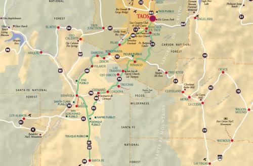 High Road - entre Santa Fe et Taos, Nouveau-Mexique