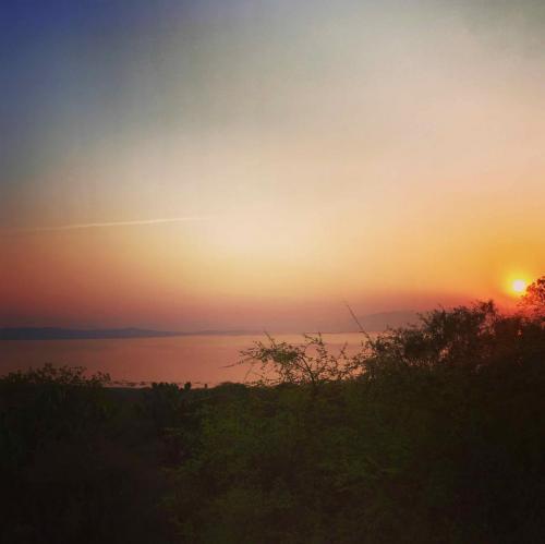 Sunset sur le lac Cuitzeo