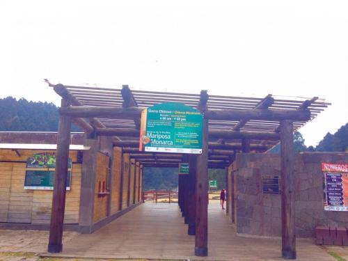 Entrée Sanctuaire Sierra Chincua